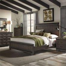 King California Panel Bed, Dresser & Mirror, N/S