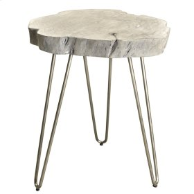 Nila Accent Table in Light Grey