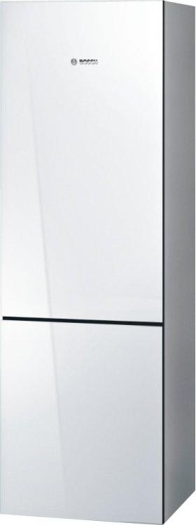 800 Series, Free-standing fridge-freezer-White Glass Door
