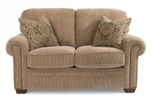 Harrison Fabric Loveseat with Nailhead Trim