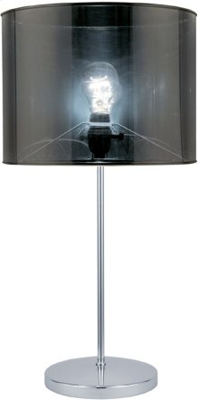 Table Lamp, Chrome/translucent Vinyl Shade, E27 Type A 60w