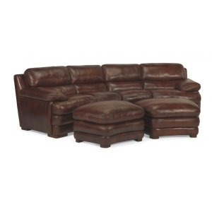 Dylan Leather Cocktail Ottoman without Nailhead Trim
