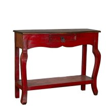 Red/Walnut Ale Console
