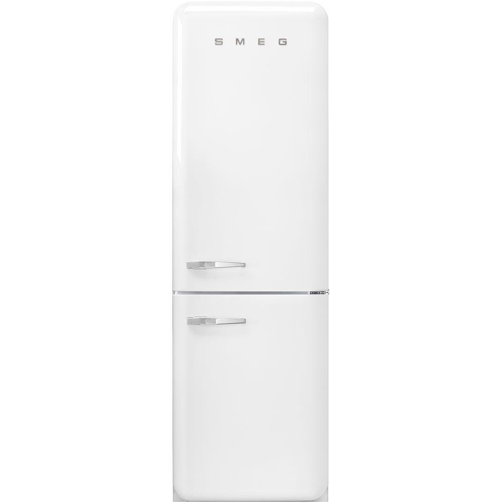 "Smeg'50s Style No Frost' Fridge-Freezer, White, Right Hand Hinge, 60 Cm (Approx 24"")"