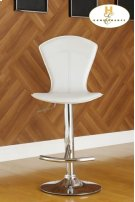 White Airlift Swivel Stool Product Image
