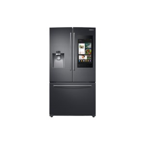 SAMSUNG24 cu. ft. Family Hub™ 3-Door French Door Refrigerator in Black Stainless Steel