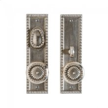 "Corbel Rectangular Entry Set - 2 1/2"" x 9"" Silicon Bronze Brushed"