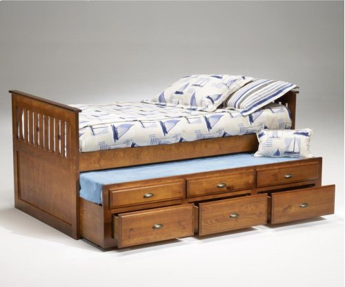 Logan Twin Captain's Bed - Cherry
