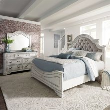 Queen Uph Bed, Dresser & Mirror