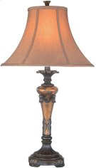 Table Lamp -oil Rubbed Brz/fabric Shade, E27 Type A 150w Product Image