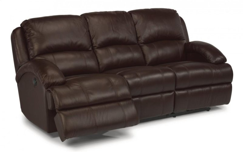 Fast Lane Leather Reclining Sofa