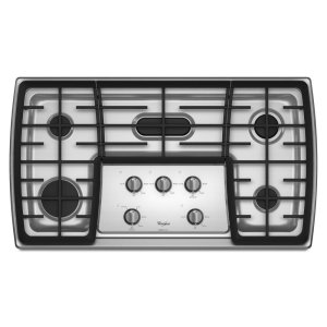 WHIRLPOOLGold(R) 36-inch Gas Cooktop with 17,000 BTU Flex Power Burner