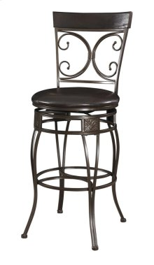 938-851  Big and Tall Back to Back Scroll Barstool