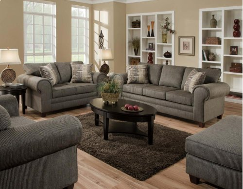 3750 Romance Graphite Sofa and Loveseat