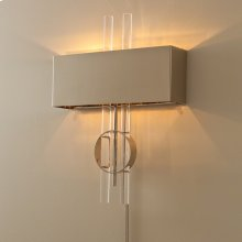 Radio City Electrified Wall Sconce-Nickel