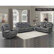 "Park Avenue Pwr-Pwr-Pwr Console Loveseat Grey 79""x40""x43"" Product Image"