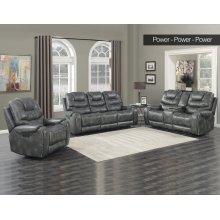 Steve Silver Park Avenue Grey Pwr-Pwr-Pwr 3PC Reclining Sofa, Loveseat & Recliner