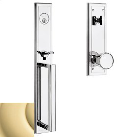 Non-Lacquered Brass Hollywood Hills Full Escutcheon Handleset