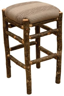 """Square Counter Stool - 30"""" high - Natural Hickory - Standard Fabric"""