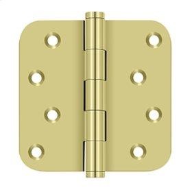 "4""x 4""x 5/8"" Radius Hinge / Zig-Zag - Polished Brass"