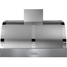 Hood DECO 36'' Stainless steel, Chrome 1 power blower, electronic buttons control, baffle filters