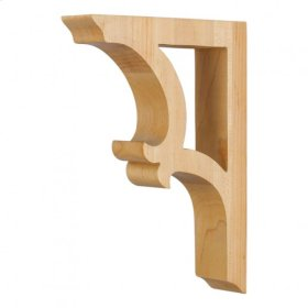 "1-7/8"" x 7-1/2"" x 10-1/2"" Solid Wood Bar Bracket e Hardware Resources, Inc., Species: Rubberwood"