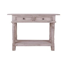 CC-TAB2287S-LW  Cottage Console Table  Natural Limewash