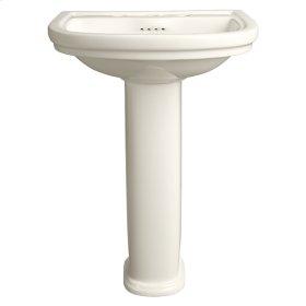 St. George Pedestal Bathroom Sink - Biscuit