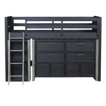 Graphite Mid Loft Bed Ends Twin