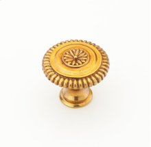 "Solid Brass, Symphony, Sonata, Round Knob, 1-5/16"" diameter, Paris Brass finish"