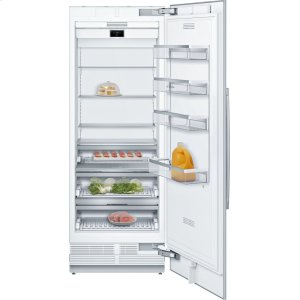 "Bosch BenchmarkBENCHMARK SERIESBenchmark® Benchmark®, 30"" Built-in Single Door Refrigerator with Home Connect, B30IR900SP, Custom Panel"