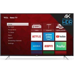 "TCLTCL 65"" Class 4-Series 4K UHD HDR Roku Smart TV - 65S405"
