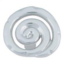 Scroll Knob 1 1/2 Inch - Brushed Nickel