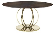 Jet Set Round Dining Table in Caviar (356)