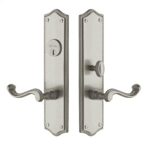 Satin Nickel Bristol Escutcheon Entrance Set