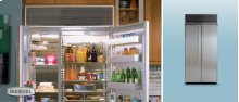 """36"""" Refrigerator Freezer - 36"""" Marvel Side-by-Side Combination Refrigerator Freezer - Stainless Interior with Panel Ready Stainless Steel Doors"""
