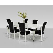 Versus Mia & Seema - Modern White & Black Dining Set