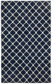 Fence Navy Ivory Hand Knotted Rugs