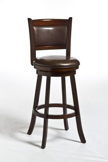 Dennery Swivel Counter Stool W/brown Vinyl