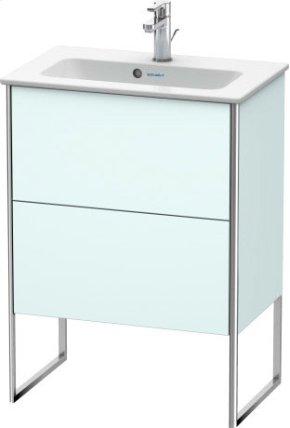 Vanity Unit Floorstanding Compact, Light Blue Matt Decor