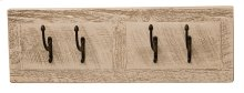Wall Coat Rack 24-inch, Four pegs, Pebble