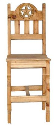 """Barstool 26""""open Star Wood Product Image"""