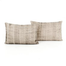 "16x24"" Size Faded Grey Cotton Pillow, Set of 2"