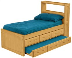 Captain's Bookcase Bed Set, Twin, extra-long