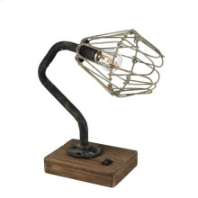 Industrial Metal Table Lamp