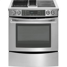 """30"""" Slide-In Modular Electric Downdraft Range with Convection, Stainless Steel"""