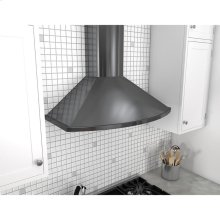 Essentials Europa Series 36-In. Savona Wall Range Hood - Black Stainless Steel