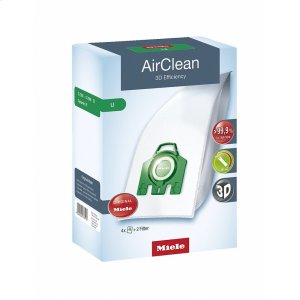 MIELEU AirClean 3D AirClean 3D Efficiency U dustbags ensures that dust picked up stays inside the machine.