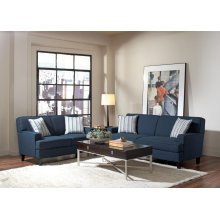 Finley Casual Blue Two-piece Living Room Set