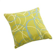 Bunny Small Outdoor Pillow Olive Green Base With Pattern
